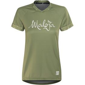 Maloja SuvrettaM. Multi - Maillot manches courtes Femme - olive